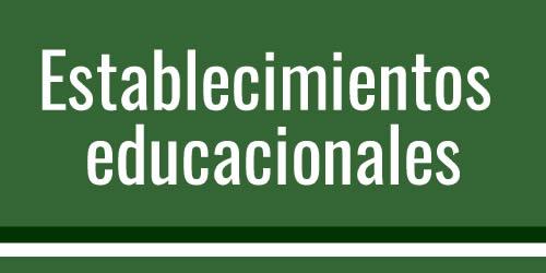 Establecimientos educacionales